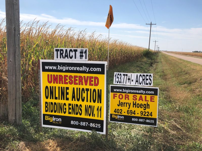 Land Auction 311.44+/- Hamilton County, NE Selling in 2 Tracts