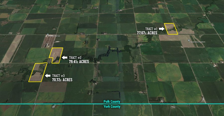 227.8+/- Acres Polk County, NE Selling in 3 Tracts