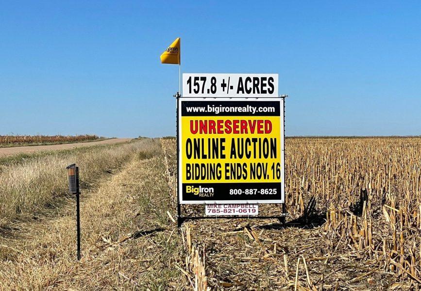 Land Auction 157.81+/- Acres Gove County, KS